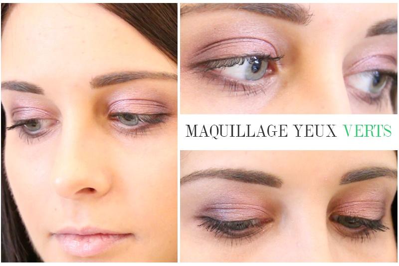 Vid o tutoriel maquillage doux et naturel pour les yeux verts - Maquillage nud yeux vert ...