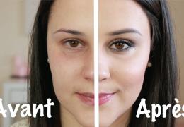 maquillage avant: après