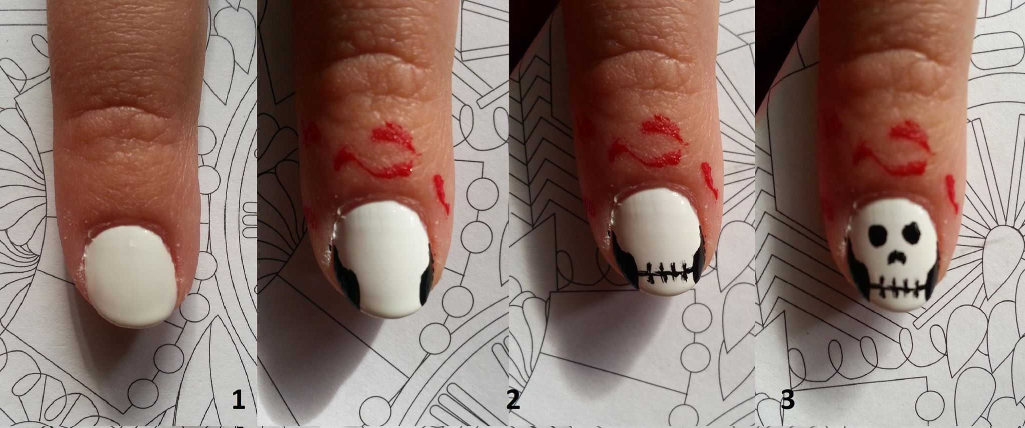 3 nail art faciles pour halloween. Black Bedroom Furniture Sets. Home Design Ideas