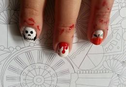 idée nail art halloween
