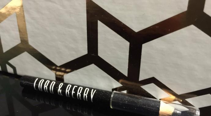 mini crayon noir paillettes argentées Lord & Berry