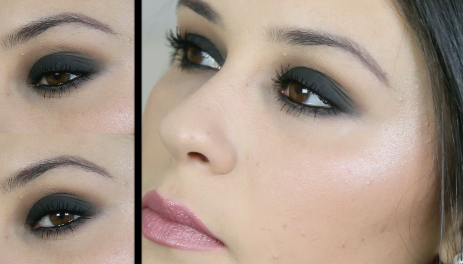 Tutoriel smoky eyes noir classic black smokey - Maquillage yeux charbonneux ...