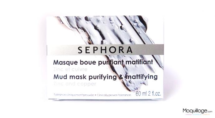 masque boue purifiant Sephora