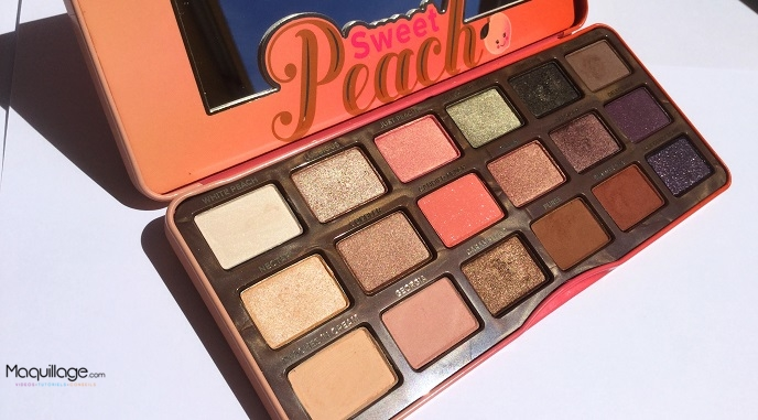 La palette Sweet Peach de Too Faced