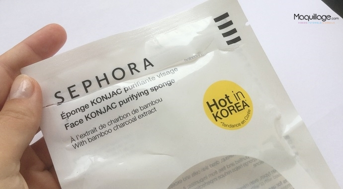 L'éponge Konjac Sephora