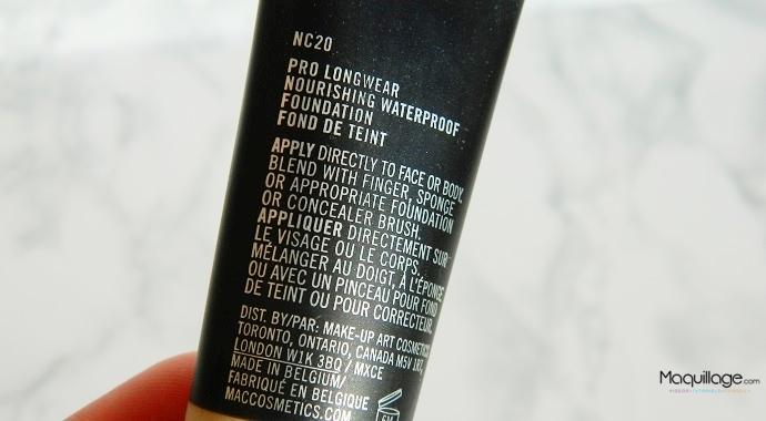 Le fond de teint Pro Longwear de Mac : Test et avis
