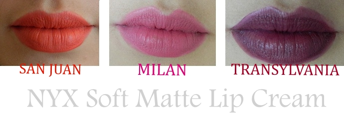 Soft Matte Lipsticks de NYX swatch
