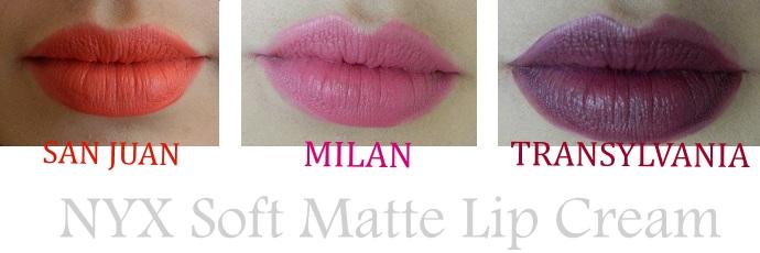Soft Matte Lipsticks de NYX swatch