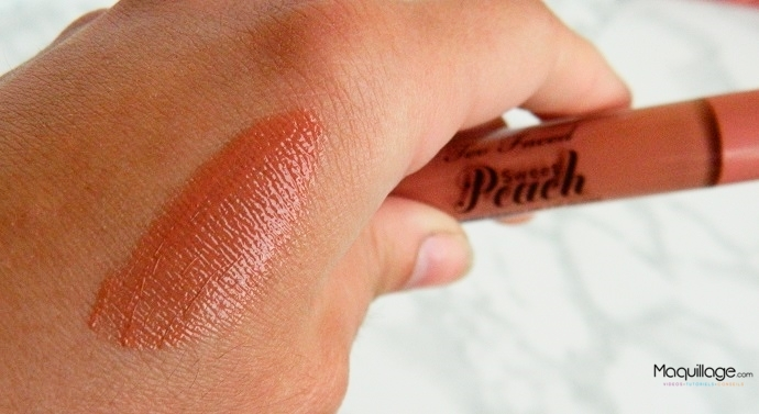 Sweet Peach Creamy Oil Gloss de Too Faced : Le Test